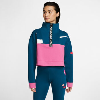 Nike Dry Get Fit Iconclash sweater Dames Blauw