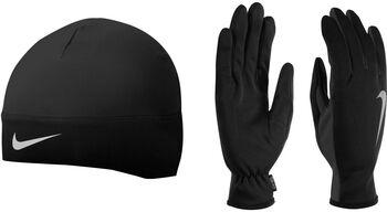 Nike Accessoires mens running drifit beanie/glove set Zwart