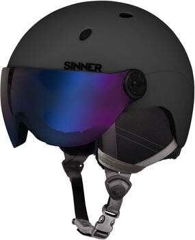 Sinner Titan Visor skihelm Zwart