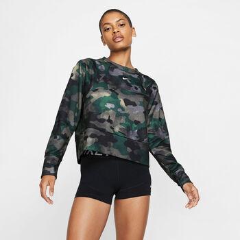 Nike Rebel Dry Camo longsleeve Dames