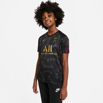 Nike Paris Saint-Germain Dri-FIT kids top 20/21 Jongens Zwart