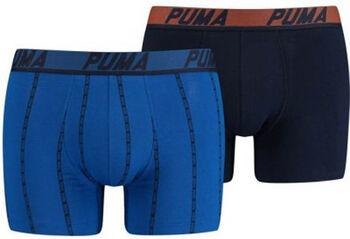 Puma Logo Stripe boxer (2 paar) Heren Blauw