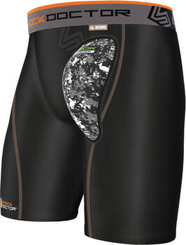 Shockdoctor Aircore Hard Cup Compression short Zwart