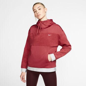 Nike One Clash Fleece hoodie Dames Rood