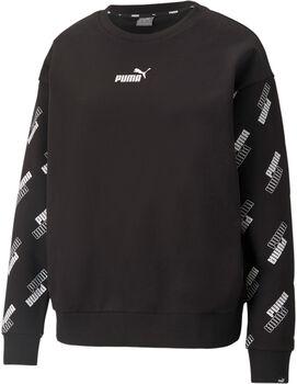Puma Power Crew fleece sweater Dames Zwart