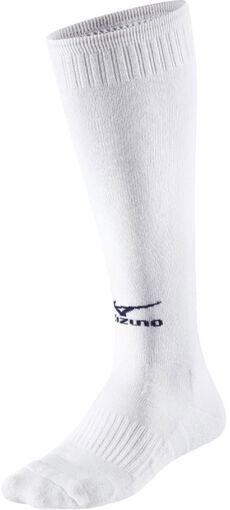 Mizuno - Comfort Volleyball Long sokken - Heren - Sokken - Wit - M