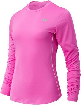New Balance Accelerate Long Sleeve shirt Dames Rood