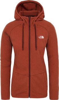 The North Face Mezzaluna Full Zip hoodie Dames Rood