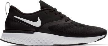 Nike Odyssey React Flyknit 2 hardloopschoenen Heren Zwart