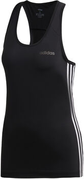 adidas Design 2 Move 3-Stripes top Dames Zwart