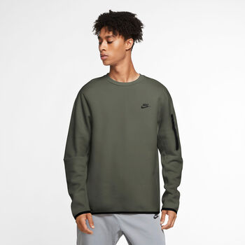 Nike Sportswear Tech Fleece shirt Heren Groen