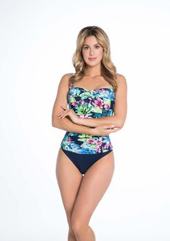 Bomain Blue Flower Wire tankini Dames Blauw