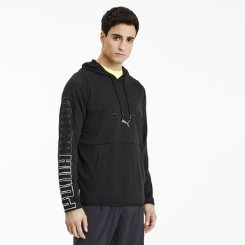 Puma Power Knit hoodie Heren Zwart