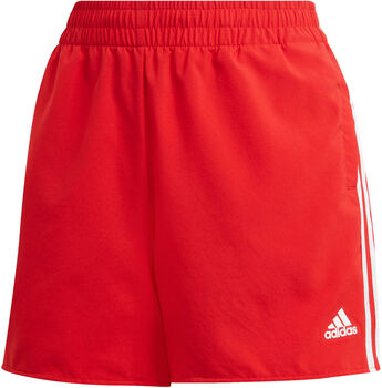 adidas Primeblue Designed 2 Move Geweven 3-Stripes Sportshort Dames Rood