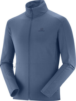 Salomon Outrack Full Zip Midlayer skipully Heren Blauw