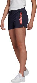 adidas Essentials Linear Logo short Dames Blauw
