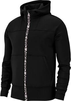 Nike Pro Full-Zip Fleece hoodie Dames Zwart