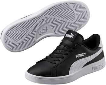Puma Smash V2 kids sneakers Zwart