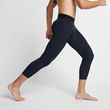 Nike Pro 3/4 tight Heren Blauw