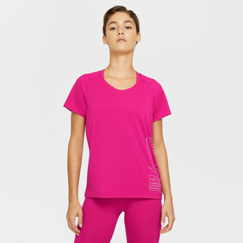 Nike Icon Clash Miler shirt Dames Rood