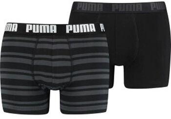 Puma Heritage Stripe boxer (2 paar) Heren Zwart