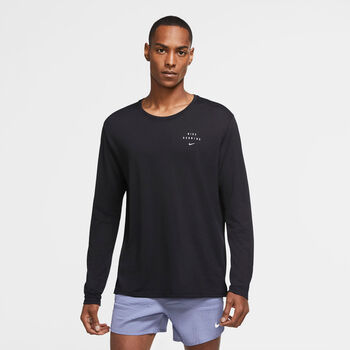 Nike Miler Run Division Long Sleeve top Heren Zwart