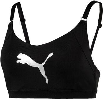 Puma En Pointe Logo sportbeha Dames Zwart