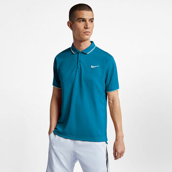 Nike Dry Polo Team shirt Heren Blauw