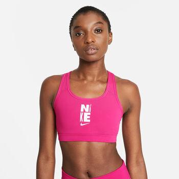 Nike Swoosh Icon Clash sportbeha Dames Roze