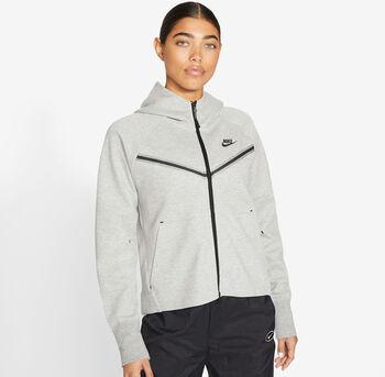 Nike Sportswear Tech Fleece hoodie Dames Grijs