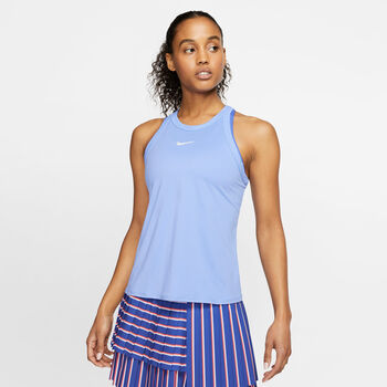 Nike Court Dry top Dames Blauw