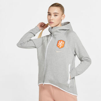 Nike Nederland Tech Fleece jack Dames Grijs