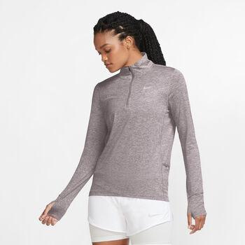 Nike Element 1/2-Zip hardloopshirt Dames Grijs