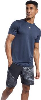 Reebok Workout Ready Gemêleerd t-shirt Heren Blauw