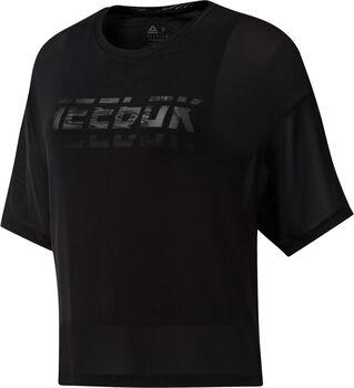 Reebok Workout Ready Mesh Layer shirt Dames Zwart