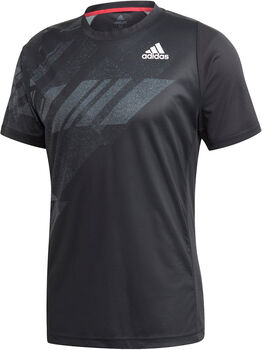 adidas FREELIFT PRINTED TENNIS T-SHIRT HEAT.RDY Heren Zwart