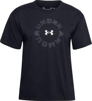 Under Armour Wordmark Graphic t-shirt Dames Zwart