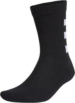 adidas 3-Stripes Half-Gevoerde sokken 3 Paar Heren Zwart
