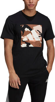 adidas Athletics Graphic T-shirt Heren Zwart
