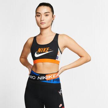 Nike Swoosh Iconclash Padded sportbeha Dames Zwart