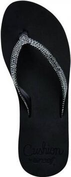 reef star cushion sassy slippers Dames Zwart