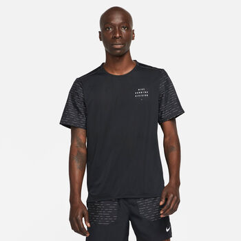 Nike Dri-FIT Rise 365 Run Division shirt Heren Zwart