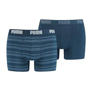 Puma Heritage Stripe boxer (2 paar) Heren Blauw