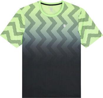 K-Swiss Hypercourt Print Crew shirt Heren Groen