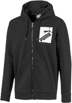 Puma Big Logo hoodie Heren Zwart