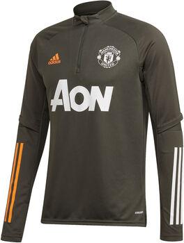 adidas Manchester United trainingsshirt 20/21 Heren Groen