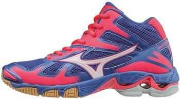 Mizuno Wave Bolt 5 Mid indoorschoenen Dames Blauw