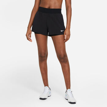 NikeCourt Flex Victory short Dames Zwart