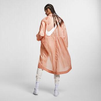 Nike Sportswear Swoosh Woven jack Dames Roze