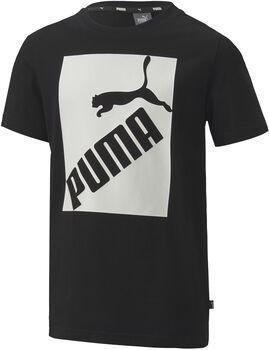 Puma Big Logo shirt Jongens Zwart